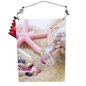 ♛5/$25♛ NWT Seashell Summer Beach Sign Pink Sand